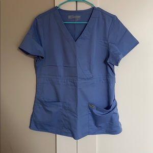 Grey's anatomy scrub top ceil blue